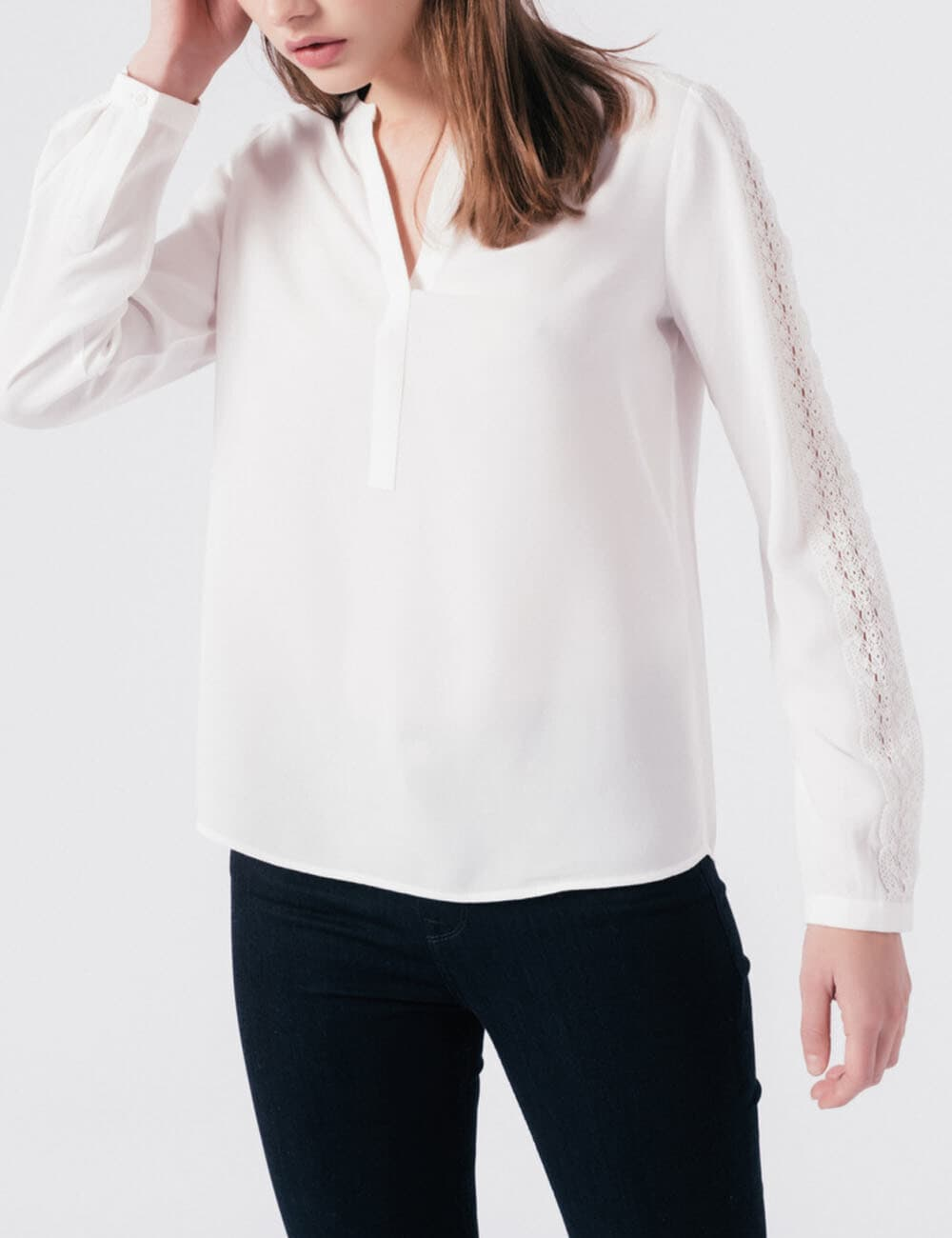Chemise Cariche : Broderie Anglaise