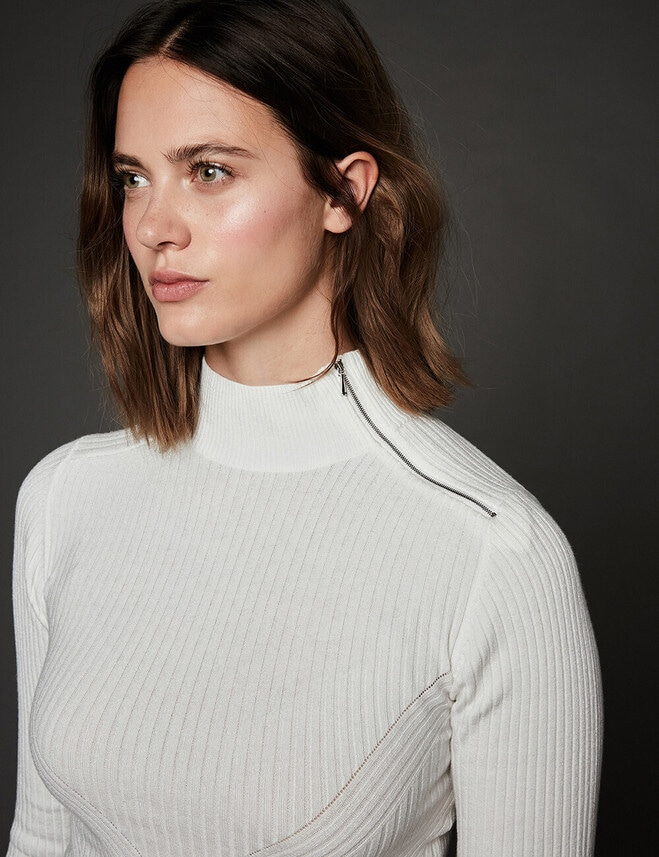 Pull Pauly : Col Cheminée